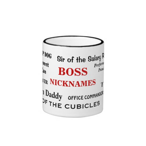 Male Boss Nicknames Funny Insults and Job Titles Ringer Mug
