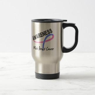 Male Breast Cancer Awareness 3 Mugs