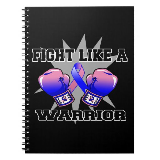 Male Breast Cancer Fight Like a Warrior Notebook