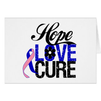 Male Breast Cancer HOPE LOVE CURE Gifts Greeting Card