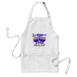 Male Breast Cancer I Fight Like a Girl With Gloves Standard Apron