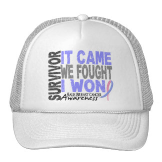 Male Breast Cancer Survivor It Came We Fought Hat