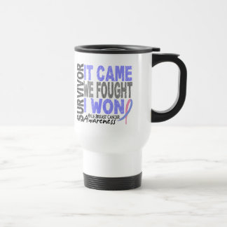 Male Breast Cancer Survivor It Came We Fought Coffee Mugs