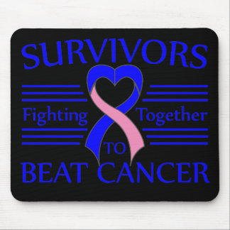 Male Breast Cancer Survivors Fighting Together Mouse Pad