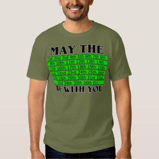 Male Calendar T-shirt