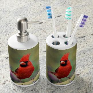 Male Cardinal Bathroom Set