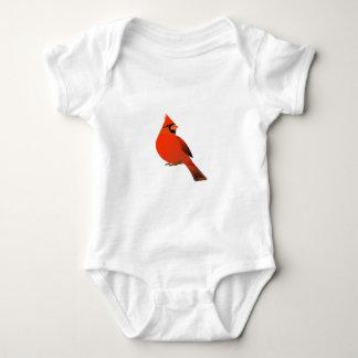 Male Cardinal Bird Baby Bodysuit