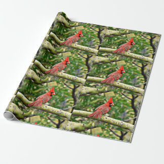 Male Cardinal Matte Wrapping Paper