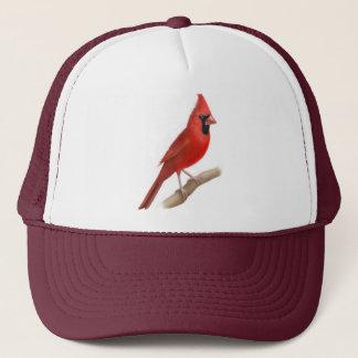 Male Cardinal Red Bird Mesh Hat