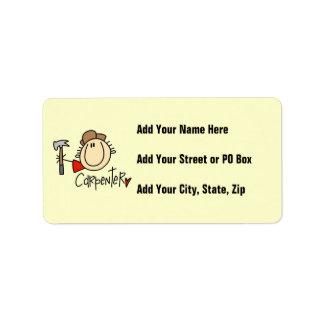 Male Carpenter Address Label
