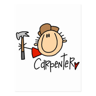 Male Carpenter Postcard