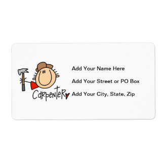 Male Carpenter Shipping Label