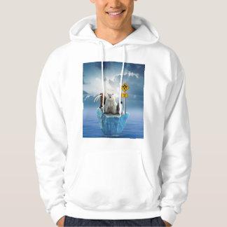 Male coat with design of animals in danger hoodie