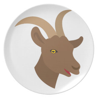 male cute goat face dinner plates