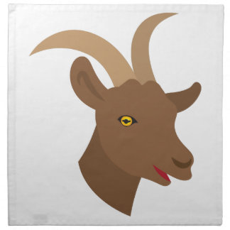 male cute goat face napkin