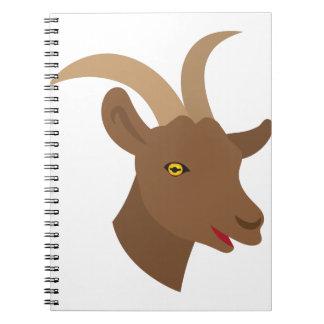 male cute goat face notebook