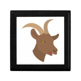male cute goat face small square gift box