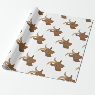 male cute goat face wrapping paper