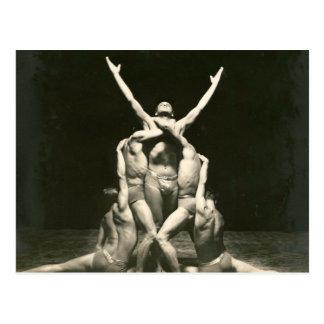 Male Dancers 1934 Postcard