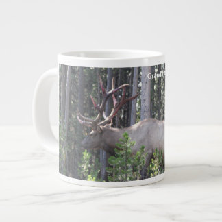 Male Elk, Grand Teton National Park, Photography Large Coffee Mug