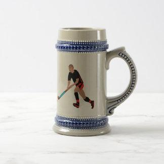 Male Field Hockey Player Beer Stein