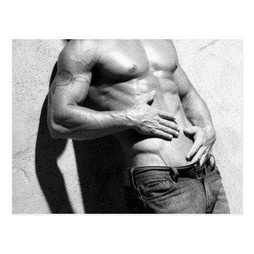 Male Fitness Model Postcard - 345