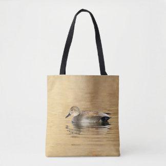 Male Gadwall duck Tote Bag
