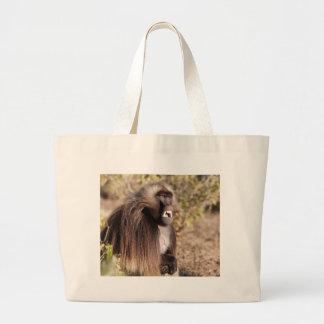 Male gelada baboon (Theropithecus gelada) Large Tote Bag