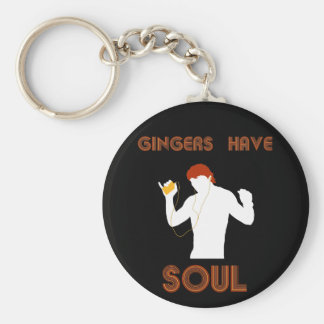 Male Gingers Have Soul Basic Round Button Key Ring