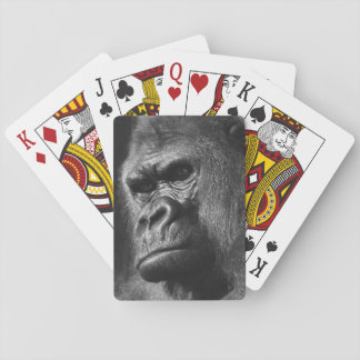 Male Gorilla Playing Cards