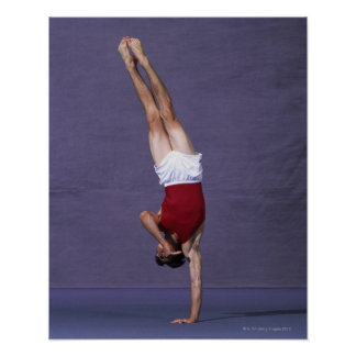 Male gymnast performing on the floor exercise 2 poster