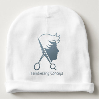 Male Hairdresser Hair Salon Scissors Man Concept Baby Beanie