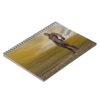 Male homo erectus - 3D render Spiral Notebook