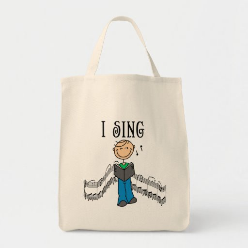 Male I Sing T-shirts and Gifts Tote Bags