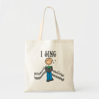 Male I Sing T-shirts and Gifts Tote Bag