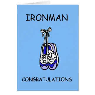 Male Ironman Congratulations for male. Card
