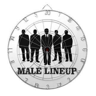 male lineup dartboard