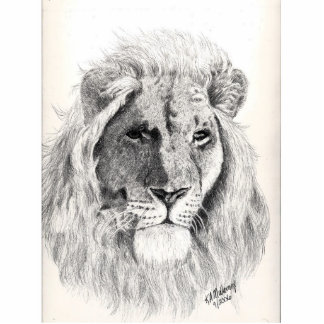Male Lion Photo Sculpture