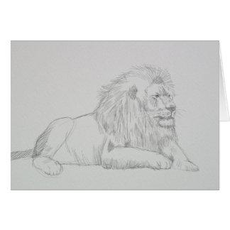 Male Lion Sketch Card