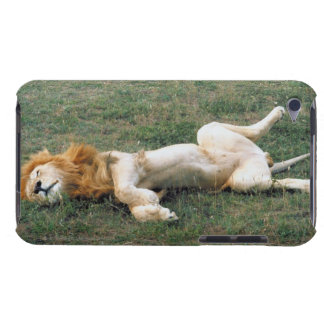 Male Lion Stretching iPod Touch Case-Mate Case