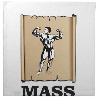 male mass and form napkin