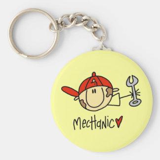 Male Mechanic Keychain
