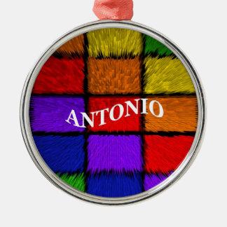 MALE NAMES (Antonio) Silver-Colored Round Decoration
