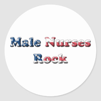 Male Nurses Rock Classic Round Sticker
