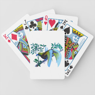 Male Paradise Bird Bicycle Playing Cards