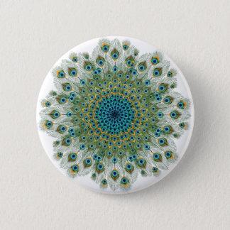 Male Peacock Colorful Mandala 6 Cm Round Badge
