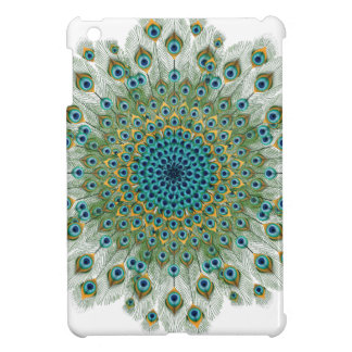 Male Peacock Colorful Mandala iPad Mini Cover