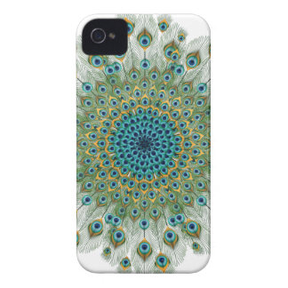 Male Peacock Colorful Mandala iPhone 4 Case-Mate Cases