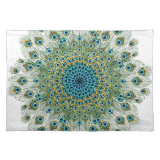Male Peacock Colorful Mandala Placemat