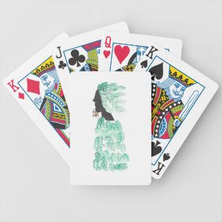 Male Pine Spirit Bicycle Playing Cards